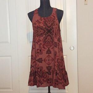 Altered State burgundy/mauve sleeveless dress